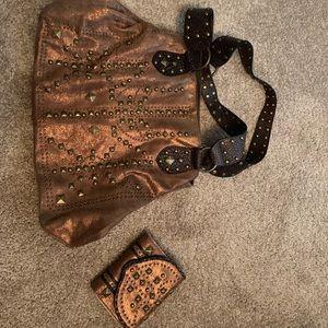Betsey Johnson matching purse and wallet